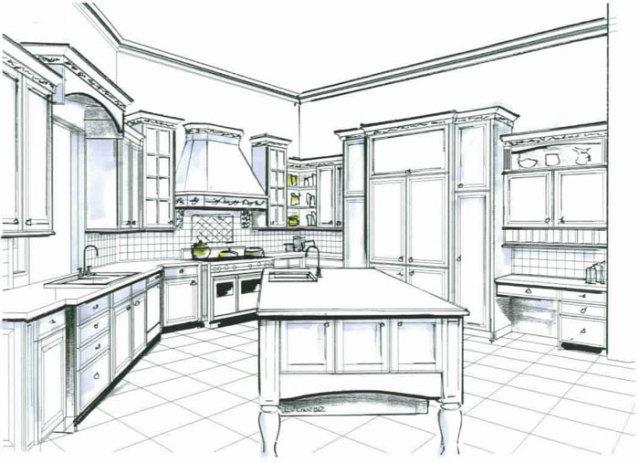 Kitchen Design Sketch Mesmerizing Of Kitchen Design Sketch Kitchens